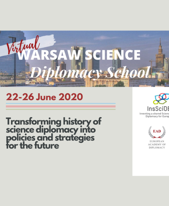 Warsaw Science Diplomacy School 2020